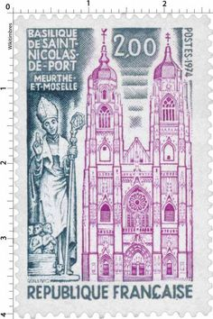 France Stamp - Basilique de Saint-Nicolas-de-Port (1974)
