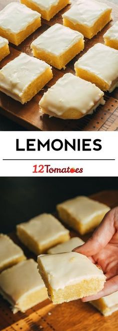 Homemade Lemonies/ TRIED IT - not a fan. Had a weird texture. Not really brownie and not really cake. And too tart. Brownie Desserts, Oreo Dessert, Mini Desserts, Dessert Bars, Just Desserts, Delicious Desserts, Yummy Food, Easy Lemon Desserts, Cookie Recipes