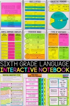 This sixth-grade grammar interactive notebook covers all Common Core language standards! Now you have a resource that is specifically designed for the students you teach and the 6th grade standards you need to cover.