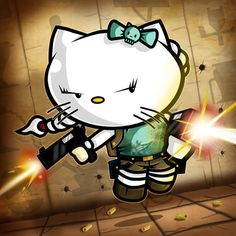 Say hello to a Tomb Raider Kitty. By Neil Rumary