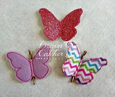 ITH Bobby Pin Butterfly Feltie Embroidery by DreamCatcherDesigns0, $4.00