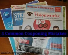 Wherever you are at in your couponing life, this post is for you! I'm talking about 5 Common Couponing Mistakes.