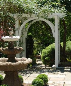 Garden Arbor With Arch | Wood Arbors, Vinyl Arbors from Walpole Woodworkers