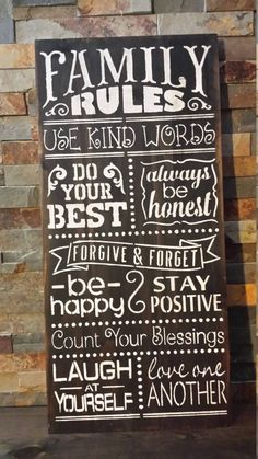 Home quotes and sayings family house rules 18 Trendy Ideas House Rules Sign, Family Rules Sign, Family Wall, Home Quotes And Sayings, Sign Quotes, Family Quotes, House Quotes, Rustic Wood Signs, Wooden Signs