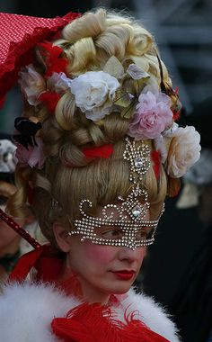 """Woman in red"" - Carnival in Venice, Italy, January 2008 ~ photo by Alaskan Dude"