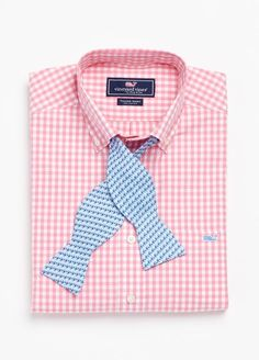 Checked Oxford with bowtie