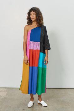 Favorite Rainbow Fashion Picks - The House That Lars Built Rainbow Outfit, Rainbow Fashion, Colorful Fashion, Inspiration Mode, Patchwork Dress, Spring Dresses, Teen Dresses, Midi Dresses, Mode Vintage
