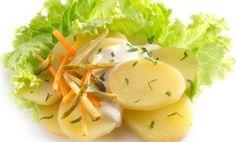 Recipe: Salad and Vegetables / German Potato Salad Recipes - tableFEAST Easy Healthy Recipes, Easy Meals, Food Charts, Potato Salad, Salad Recipes, Potatoes, Yummy Food, German, Eat