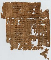 A page from Matthew, from Papyrus 1, c. 250. Son of man appears 30 times in Matthew's gospel.[8]  http://en.wikipedia.org/wiki/Son_of_man_%28Christianity%29