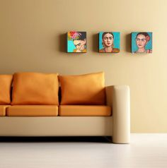 10% Sale  Frida Kahlo Set of Three Premium Canvas by FridaKahloArt