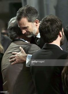 King Felipe VI of Spain gives his condolences to victim's relatives as he attends the state funeral service for the victims of the Germanwings plane crash at the Sagrada Familia on April 27, 2015 in Barcelona, Spain. Germanwings Flight 9525 crashed in the French Alps killing all 150 aboard on March 24, 2015.