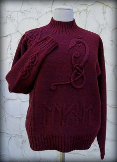 Ravelry: lv2knit's Brage (aka The Dragon Sweater)