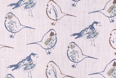 Premier Prints Bird Toile - Slub Canvas Printed Cotton Drapery Fabric in Regal Blue. This printed fabric is perfect for window treatments, decorative pillows, handbags, light duty upholstery applications...