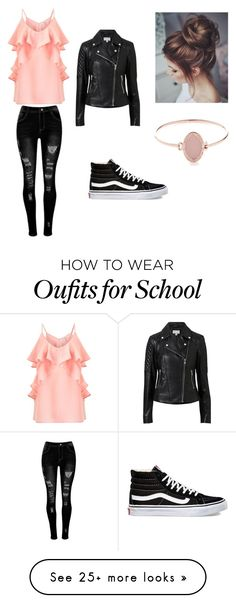 """""""School Year"""" by hazel-585 on Polyvore featuring Miss Selfridge, Witchery, Vans and Michael Kors"""