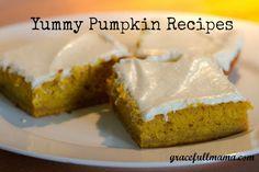 Yummy Pumpkin Recipes -Happy Fall!