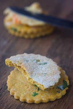 Spicy Cilantro Crackers from Manifest Vegan. A tasty, any-occasion cracker that everyone can enjoy! Great as is or served alongside your favorite dips. Vegan and gluten free.