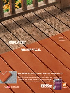 Behr Deckover Paint - Now here's another great idea. REALLY considering this for our deck this year! Deck Repair, Deck Makeover, Deck Colors, Painting Concrete, Deck Decorating, Covered Decks, Decks And Porches, Deck Design, Outdoor Projects