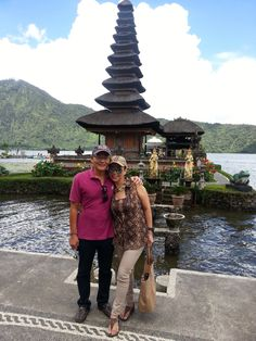 Lake Bratan with the Hindu Temple' Bali