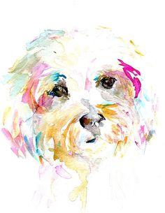 Print of Watercolor Painting Mrs. Sophie 8 x 10 by ArtbyJessBuhman, $25.00
