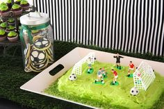 Soccer Green, Black & White / Birthday Soccer Party | Catch My Party