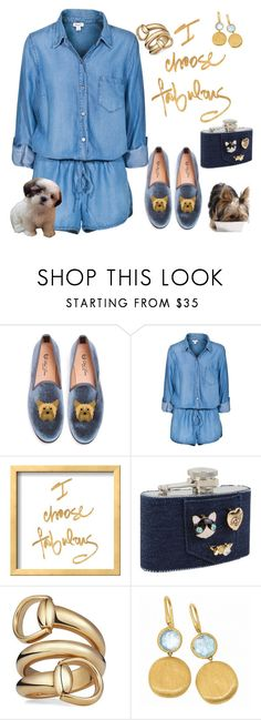 """""""Puppy love 🐶"""" by ellenfischerbeauty ❤ liked on Polyvore featuring Del Toro, Splendid, Betsey Johnson, Gucci, Marco Bicego, dogs, puppy, HowToWear and waystowear"""