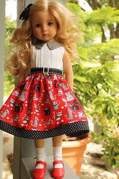kitty dress for Little Darling, Effner 13, Dianna Effner, Betsy McCall