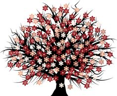 Free Blossomed Tree Vector - Free Vector Site | Download Free Vector Art, Graphics