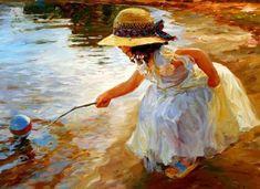 painting of children | Vladimir Volegov children paintings8 Children paintings by Vladimir ...