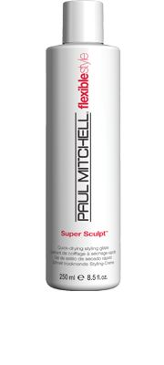 Super Sculpt™  Quick-Drying Styling Glaze    Provides flexible control and long-lasting memory. Adds body and maximizes shine. Dries fast so you get the results you want in less time.  Conditioning bodifying agents and panthenol add volume and memory. #paulmitchell #hair #hairproduct #hairdresser #crueltyfree