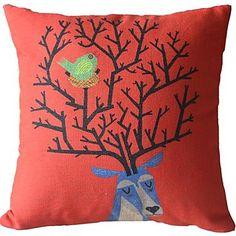 Orange Fawn  Decorative Pillow Cover - AUD $ 17.70