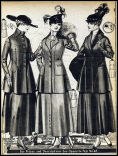Teen Fashion : Sensible Advice To Becoming More Fashionable Right Now – Designer Fashion Tips 1918 Fashion, Edwardian Fashion, Fashion History, Teen Fashion, Vintage Fashion, Medieval Fashion, Historical Costume, Historical Clothing, Motif Vintage