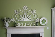 Frugal Mantel Decor - everything for $7