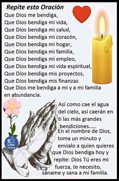 Prayer Scriptures, Faith Prayer, God Prayer, Prayer Quotes, Good Morning Prayer, Morning Prayers, Catholic Prayers In Spanish, Archangel Prayers, Prayer For Protection