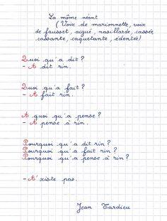 poème de Jean Tardieu :