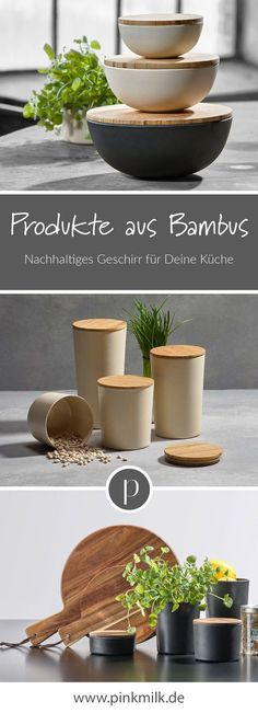 Products made of bamboo! At pinkmilk you can find sustainable . Bei pinkmilk findest Du nachhaltiges Geschirr aus Bambus f Products made of bamboo! At pinkmilk you will find sustainable bamboo crockery f - Diy Crafts To Do, Home Crafts, New Swedish Design, Bamboo Dishes, Pink Milk, Home Technology, Hacks, Fast Growing, Raw Materials