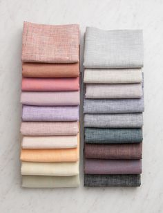 Watercolor Linen Fat Quarter Bundle, 19 Fat Quarters