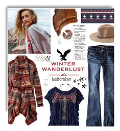 """Winter Wanderlust with American Eagle: Contest Entry"" by hamaly ❤ liked on Polyvore featuring American Eagle Outfitters, Bohemian, bohochic and aeostyle"