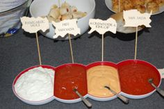 Dips Buffet Game of Thrones Party Game Of Thrones Party, Buffet, Dips, Games, Food, Twin Girls, Birthday, Plays, Sauces