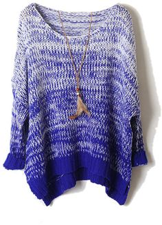 Asymmetric Gradient Blue Jumper
