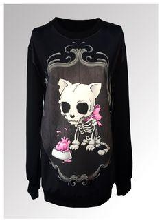 Sweater puppy skull blouse china