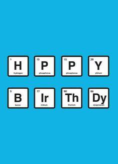 Chemist birthday