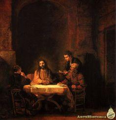 REmbrandt. La cena en Emaús