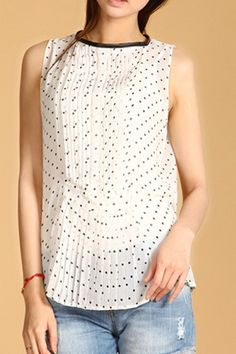 I love a polka dot blouse