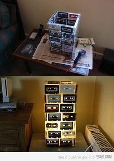 .cassette tape lamp. ha! 1