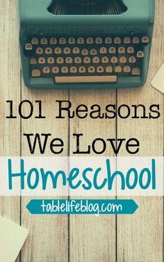 101 Reasons We Love Homeschool written by kids