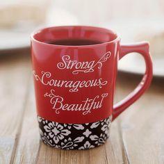 Strong, Courageous, Beautiful - Christian Mug