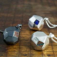 3 finish options for our 237 boulder opal necklaces