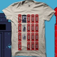 LOVE this! If you can look at this shirt and not hear the sound of the TARDIS taking off, you're not watching enough Who. ;)