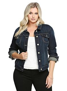 Torrid Jean Jacket - Dark Wash >>> Read more reviews of the item by visiting the link on the image.
