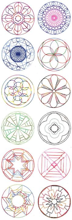 Mandala Quilt Blocks Set 4